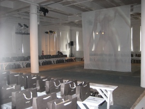 "A shot of the venue for VPL's show, entitled ""Exquisite Corpse."""