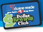 The Duane Reade rewards club card you must swipe at every visit to accumulate points.